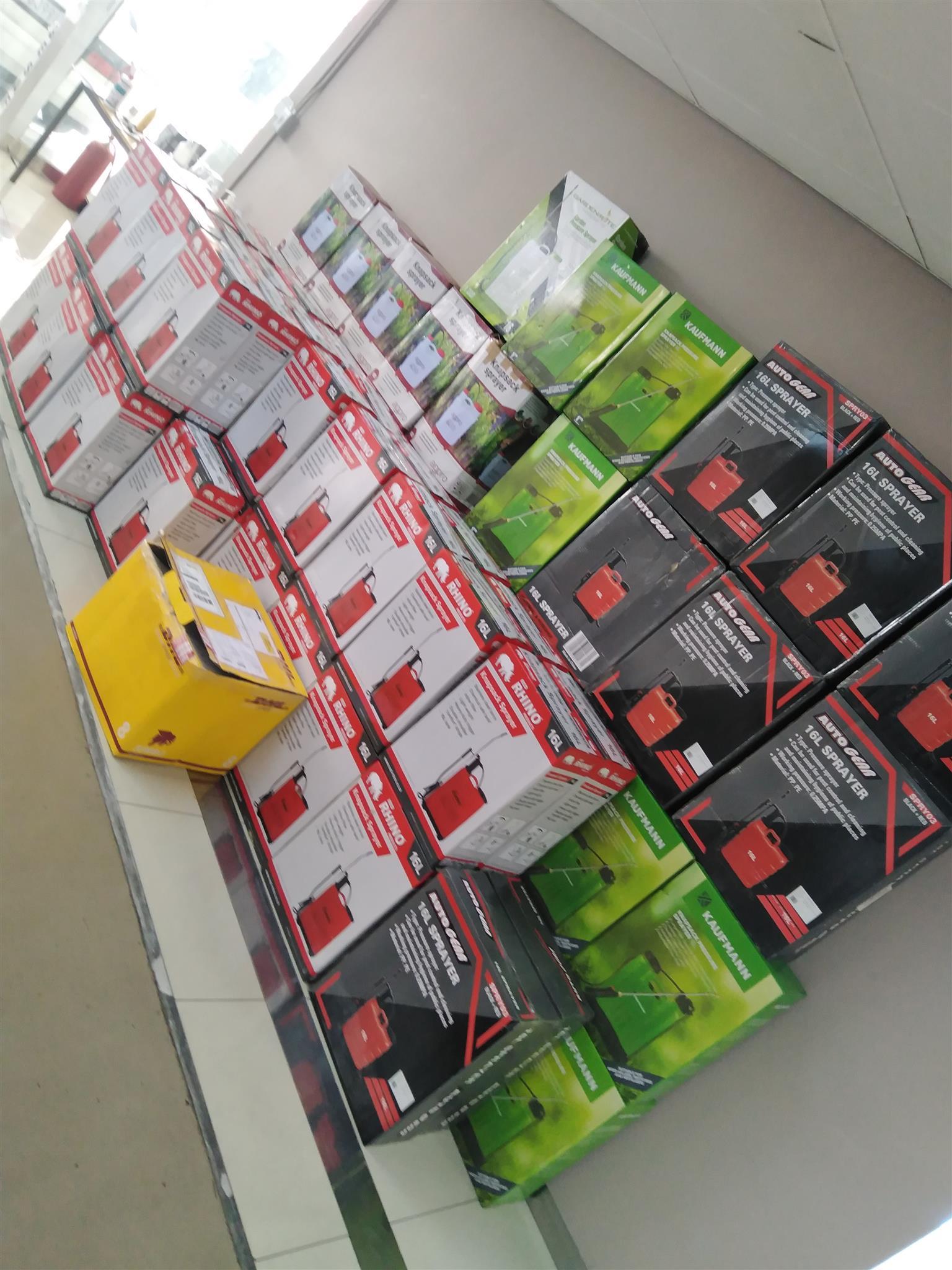 Knapsack sprayers available