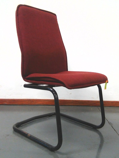 Maroon visitor fabric chair no arms