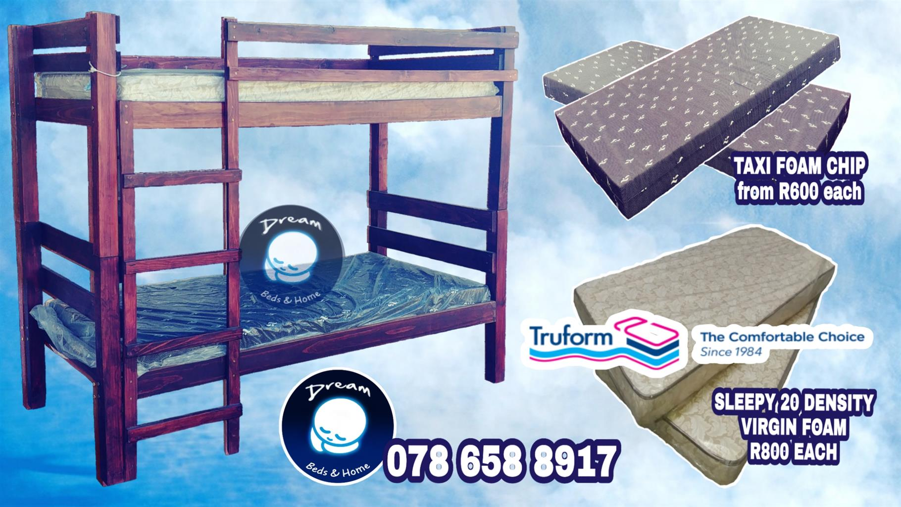 FREE DELIVERY*! Wood Tribunk Bunk Bed  BRAND NEW
