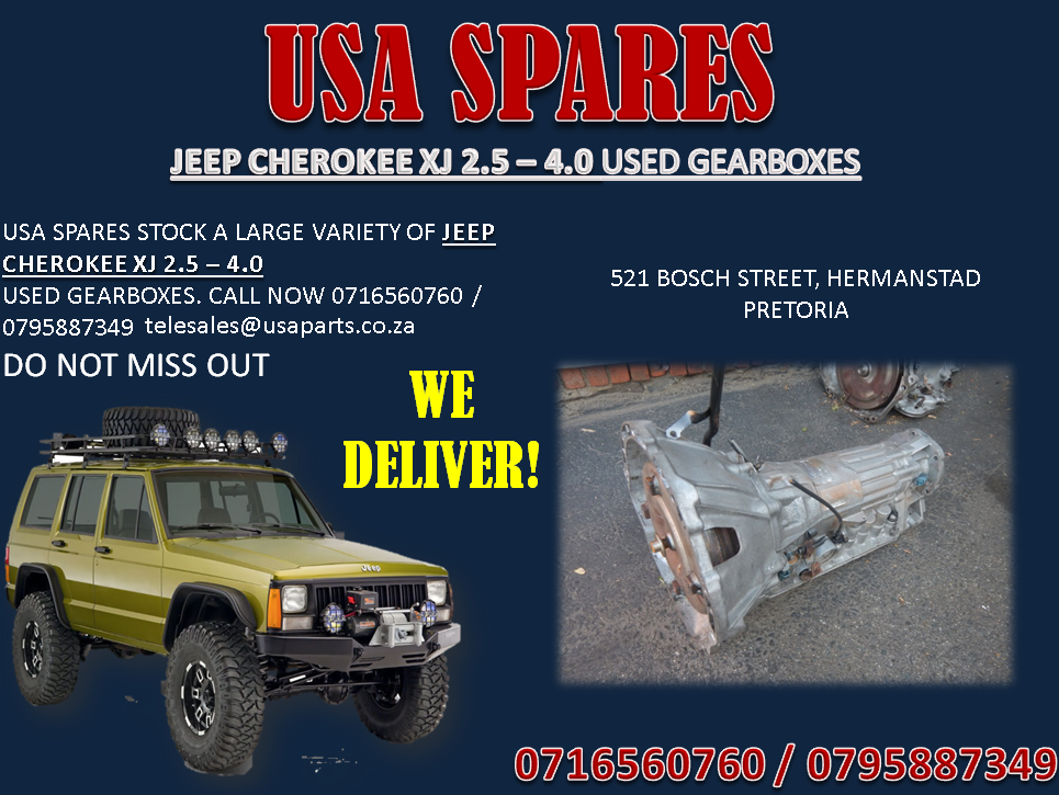 JEEP CHEROKEE XJ 2.5 – 4.0 USED GEARBOXES FOR SALE