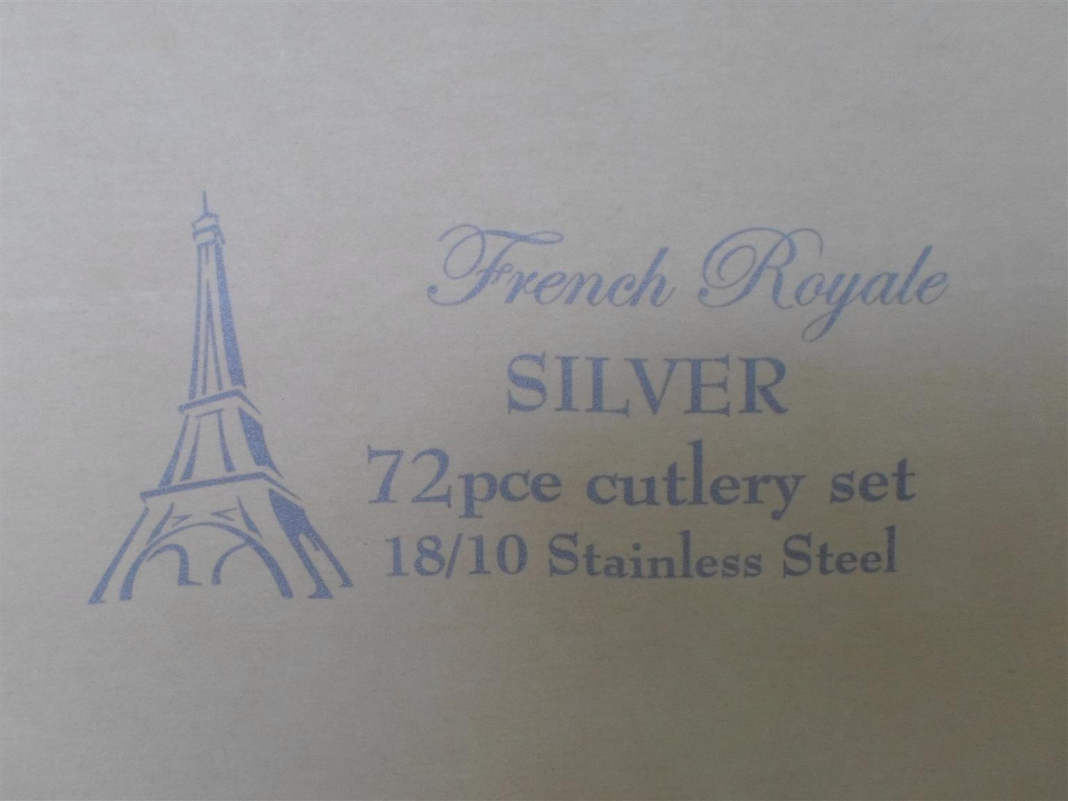 72pc. French Royale Silver Cutlery Set