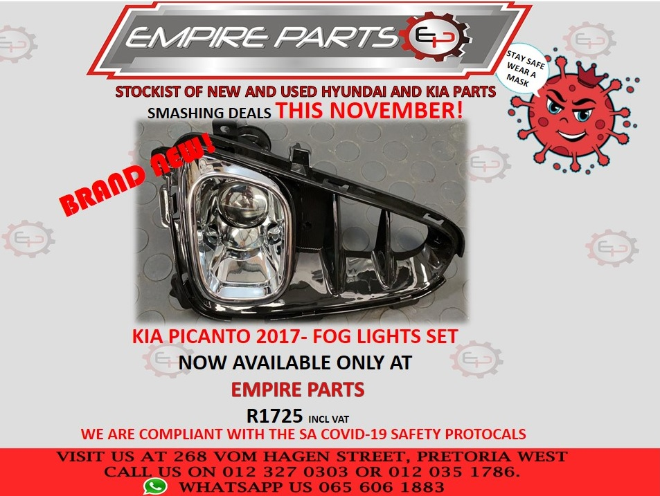 KIA PICANTO 2017 - BRAND FOG LIGHT SET