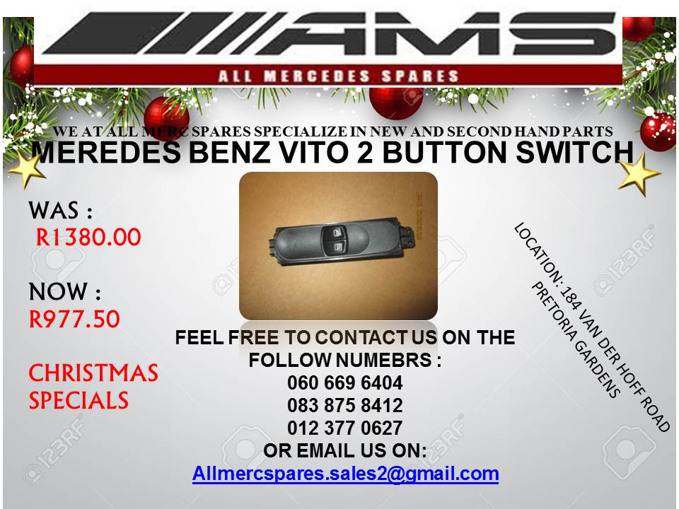 CHRISTMAS SPECIALS!!!! VITO 2 BUTTON WINDOW SWITCH FOR SALE