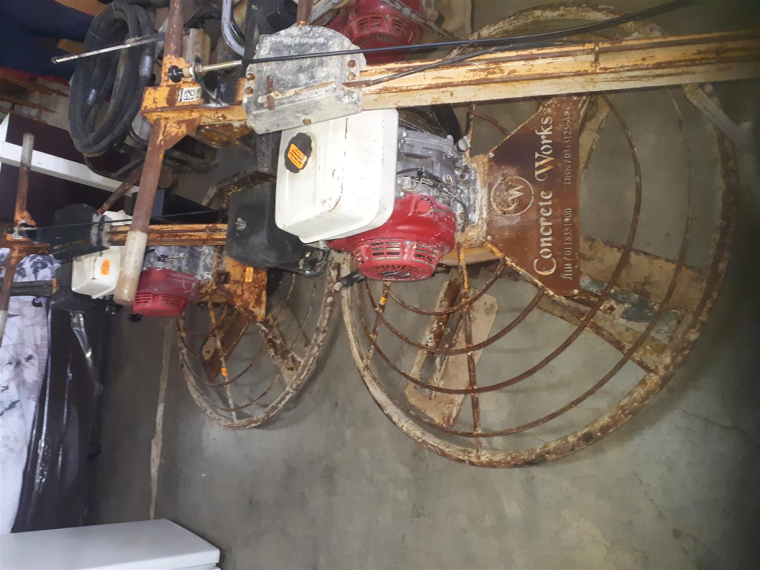 Concrete floaters with Honda GX 270 motor