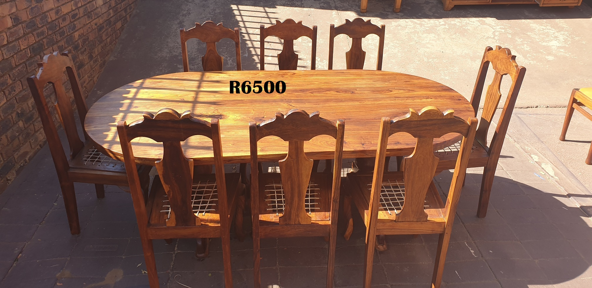 Classic Teak Dining Suite with 8 Chairs (2110x1100x735)