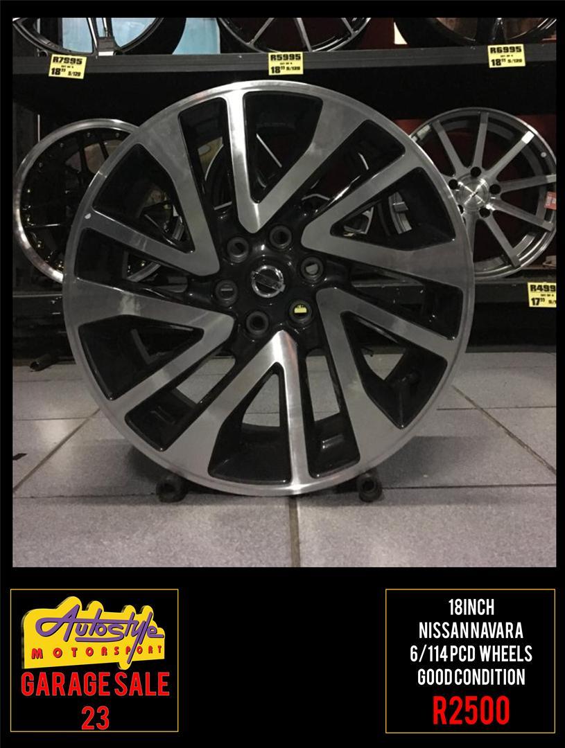 Garage Sale 23 R2500 18 inch Nissan Navara Wheels Rims mags alloys  6-114 pcd