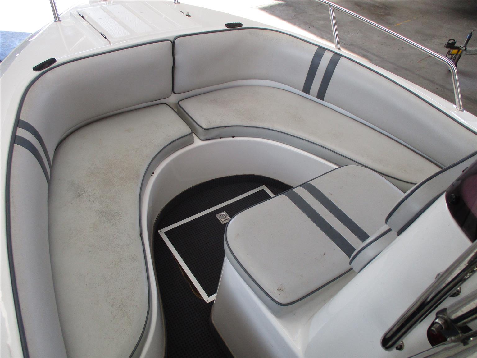 swift 165 on trailer 2 x 60 hp mercury bigfoots