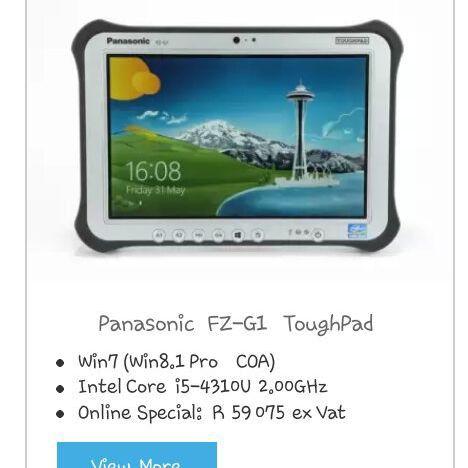 Panasonic tough Pad