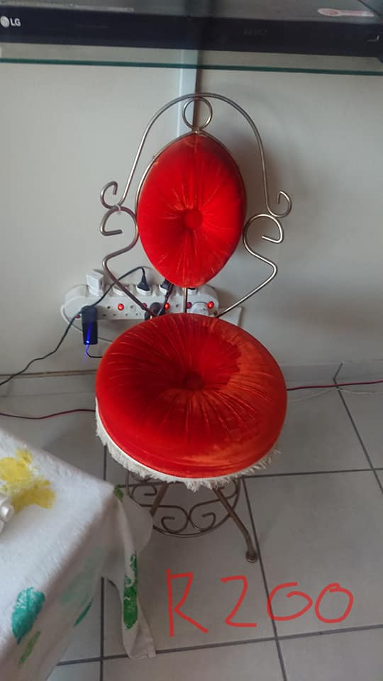 Vintage red pillow chair for sale