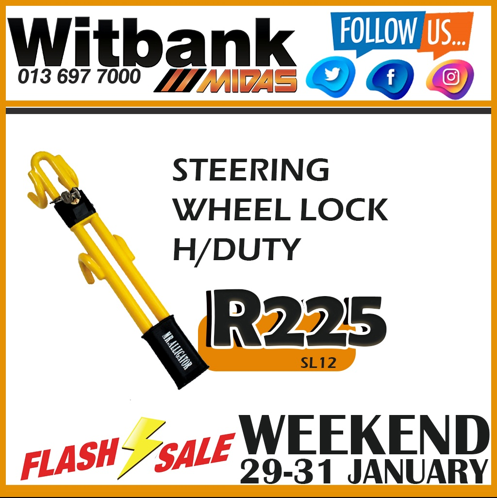 Get this Steering Wheel Lock for ONLY R225!