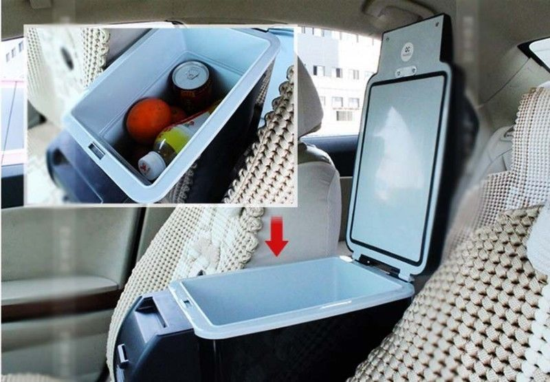 6L PORTABLE CAR ELECTRONIC 2-IN-1 COOLING & WARMING REFRIGERATOR FRIDGE STORAGE~WHITE