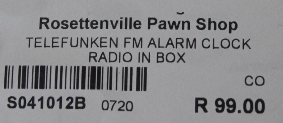 Telefunken fm alarm clock alarm radio S041012B #Rosettenvillepawnshop