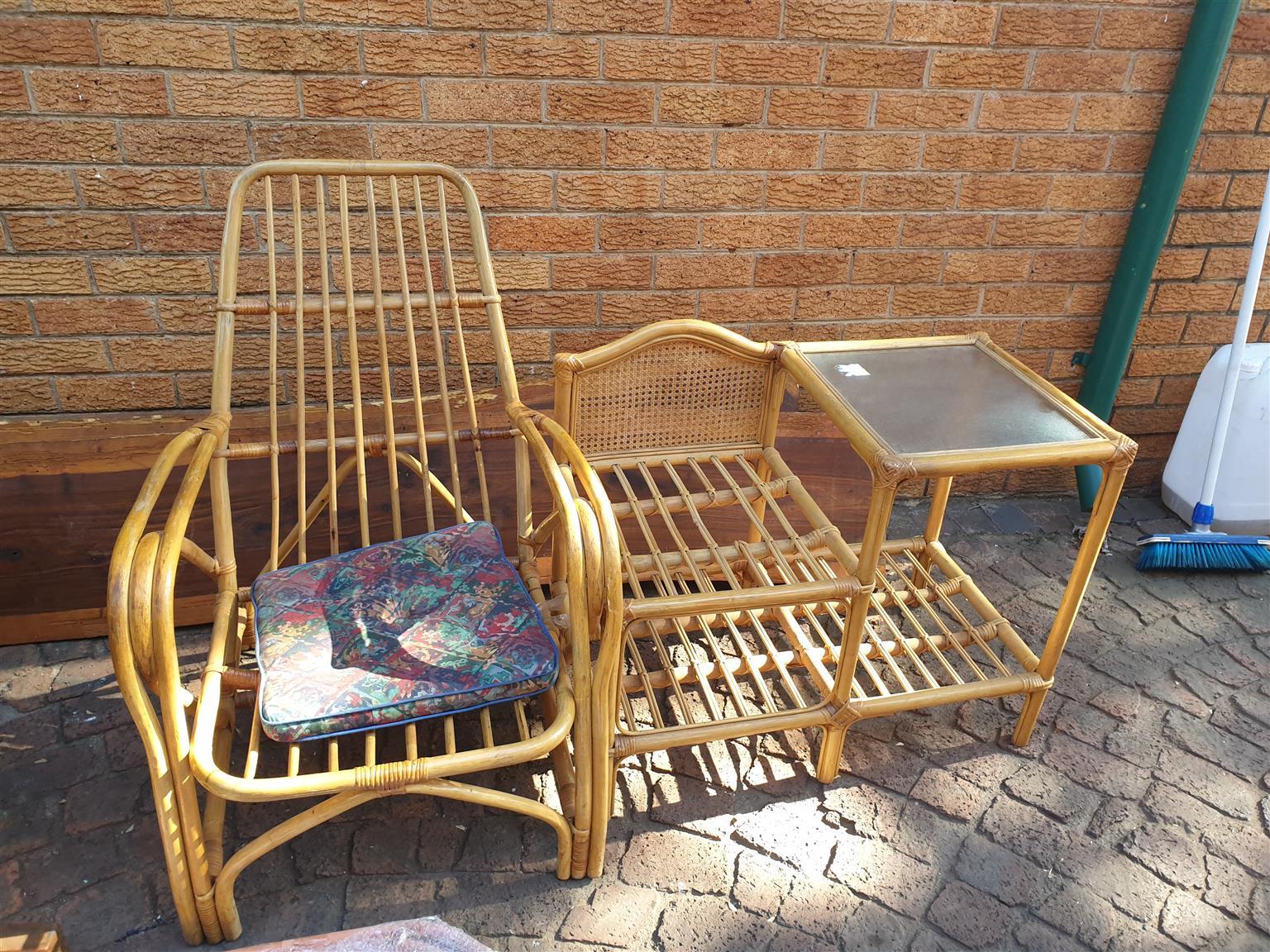 Rotang chair and table