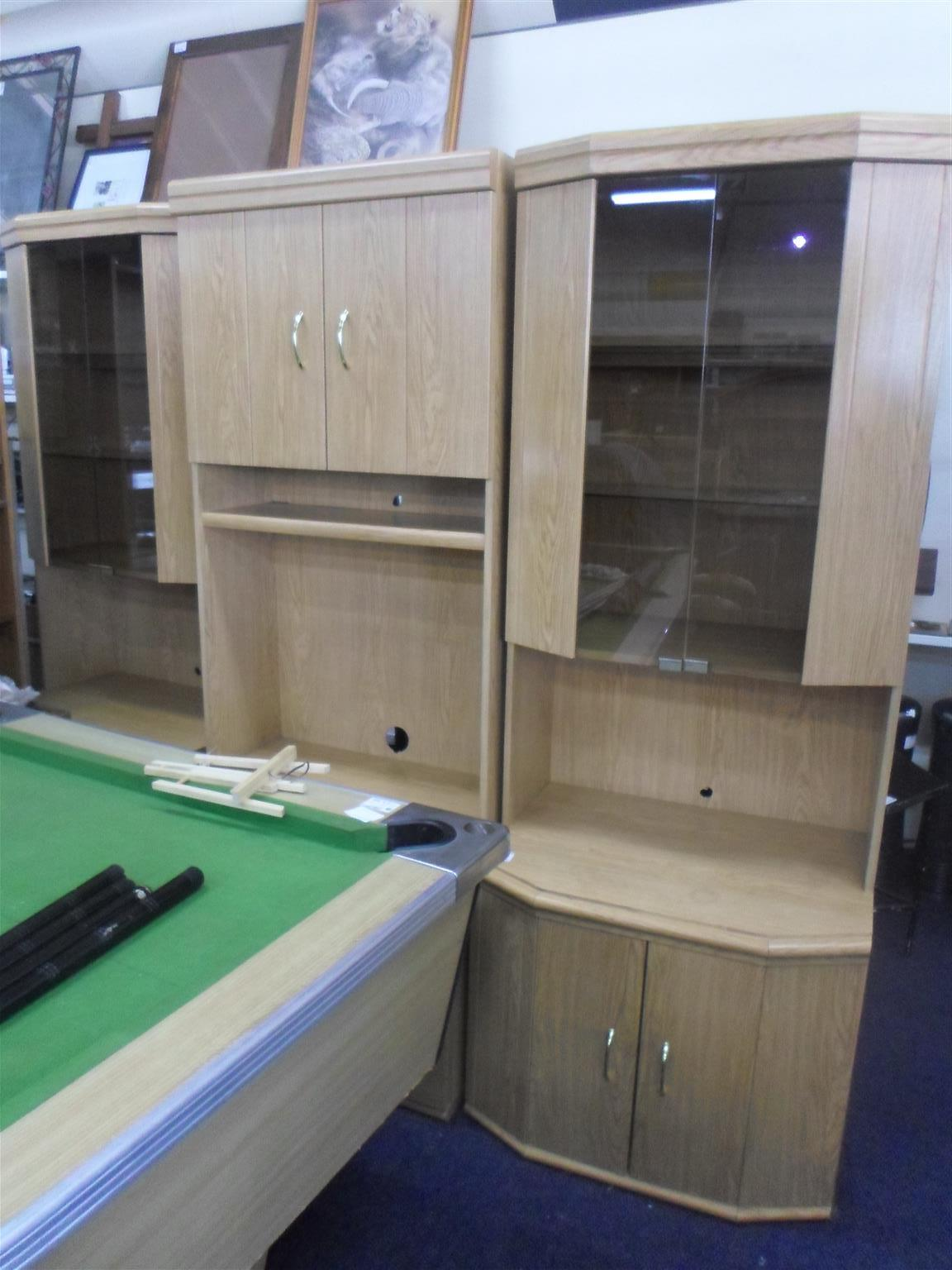 Wooden 3pc. Wall Unit - B033048279-1