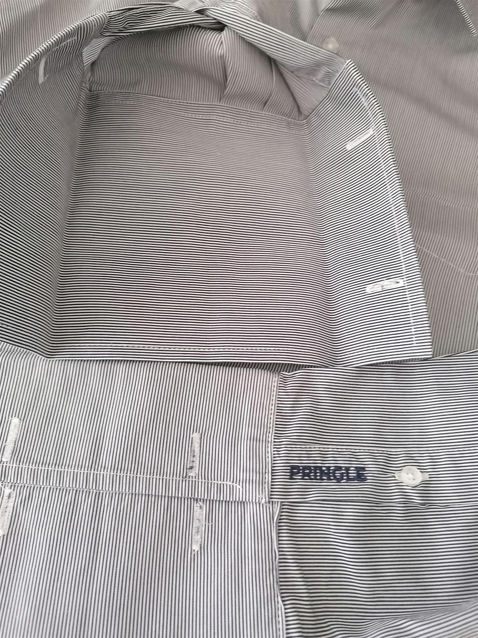 Mens Pringle cufflink cuff shirt