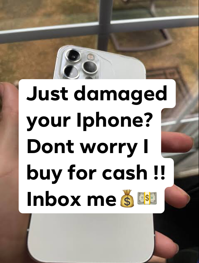We buy cracked and used Iphones