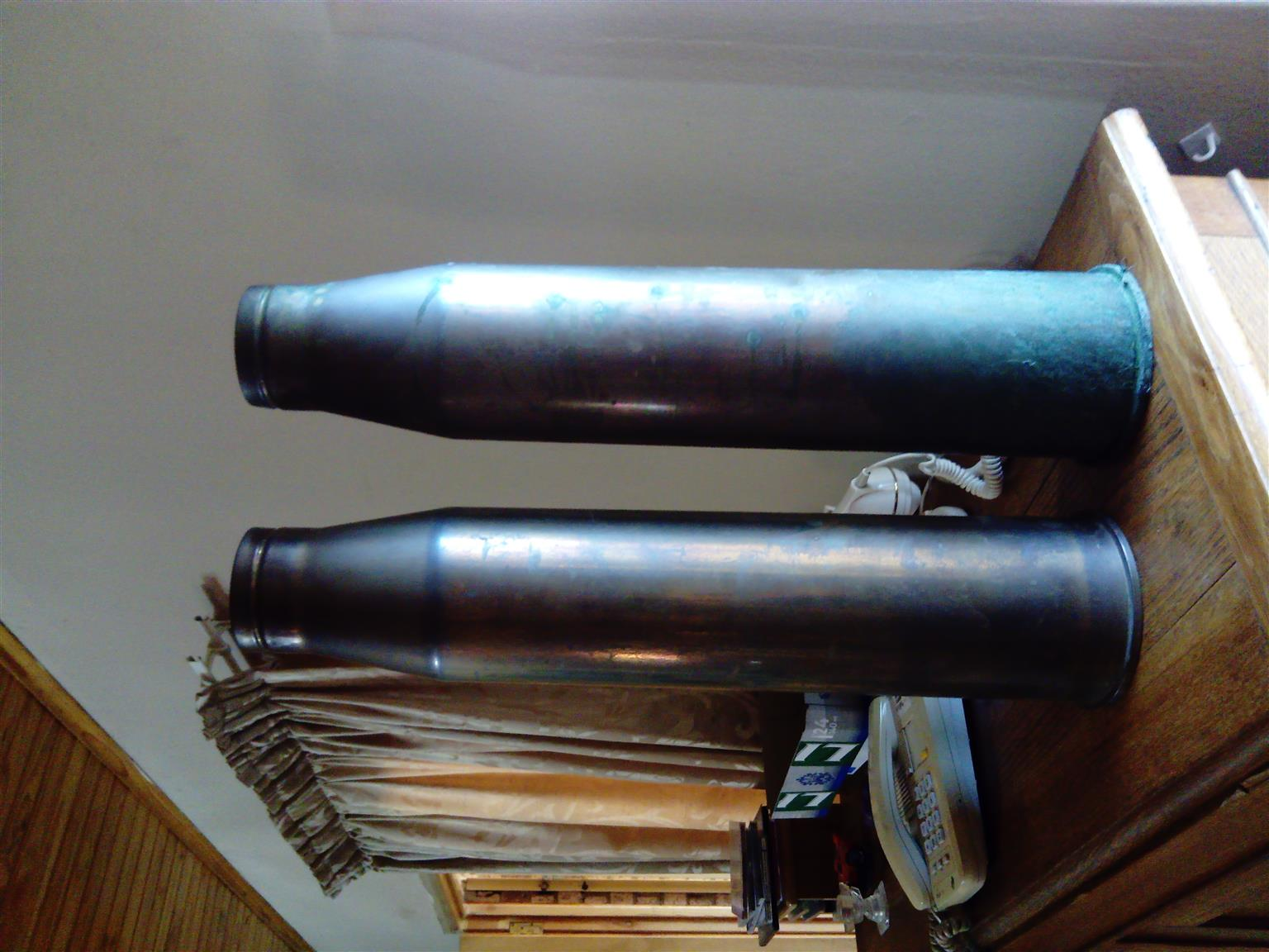 Solid brass, vintage shells for sale