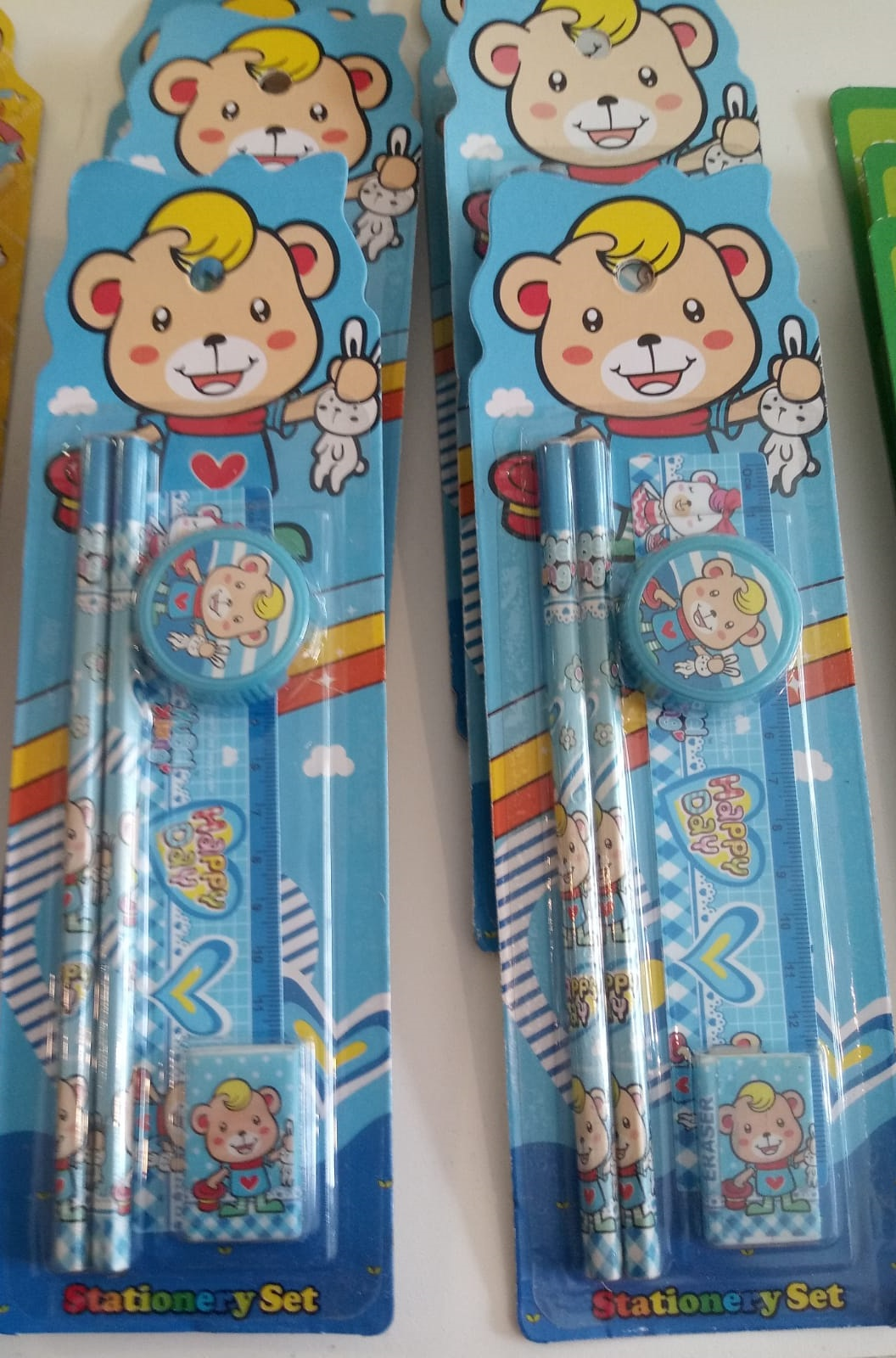HAPPY DAY STATIONERY SET TWO PENCILS