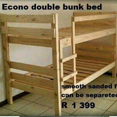 pine double bunks