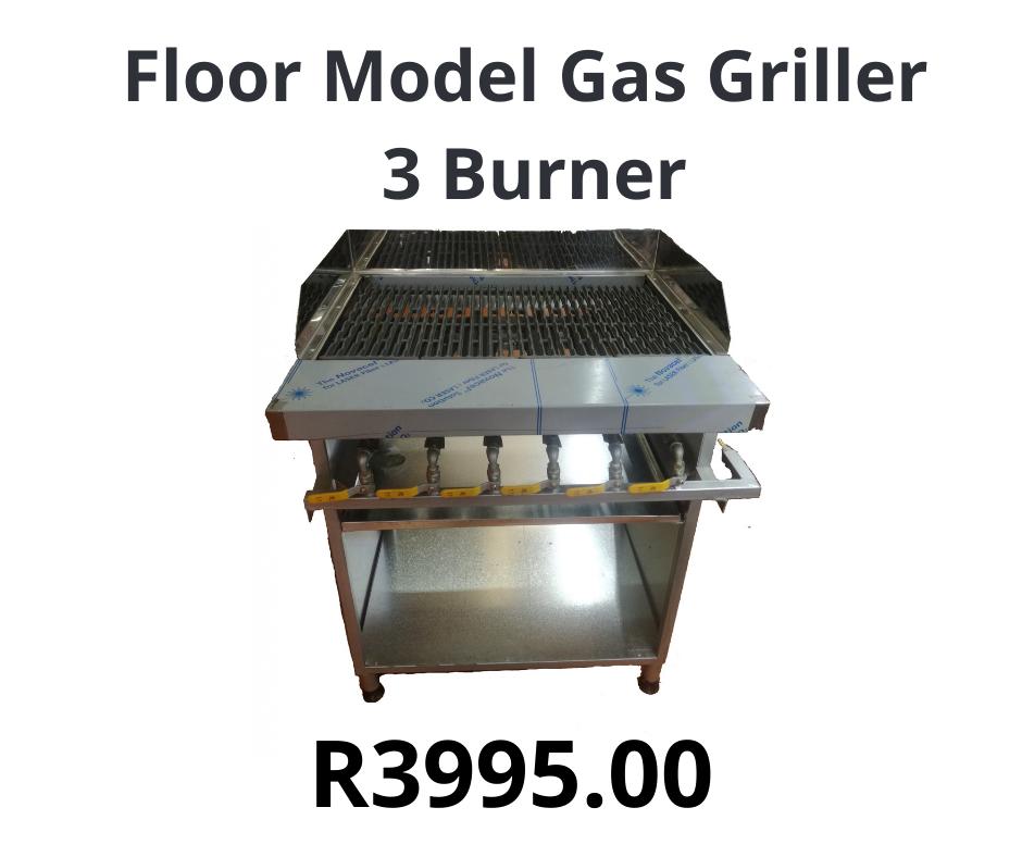 Floor Model Gas Griller 3 Burner