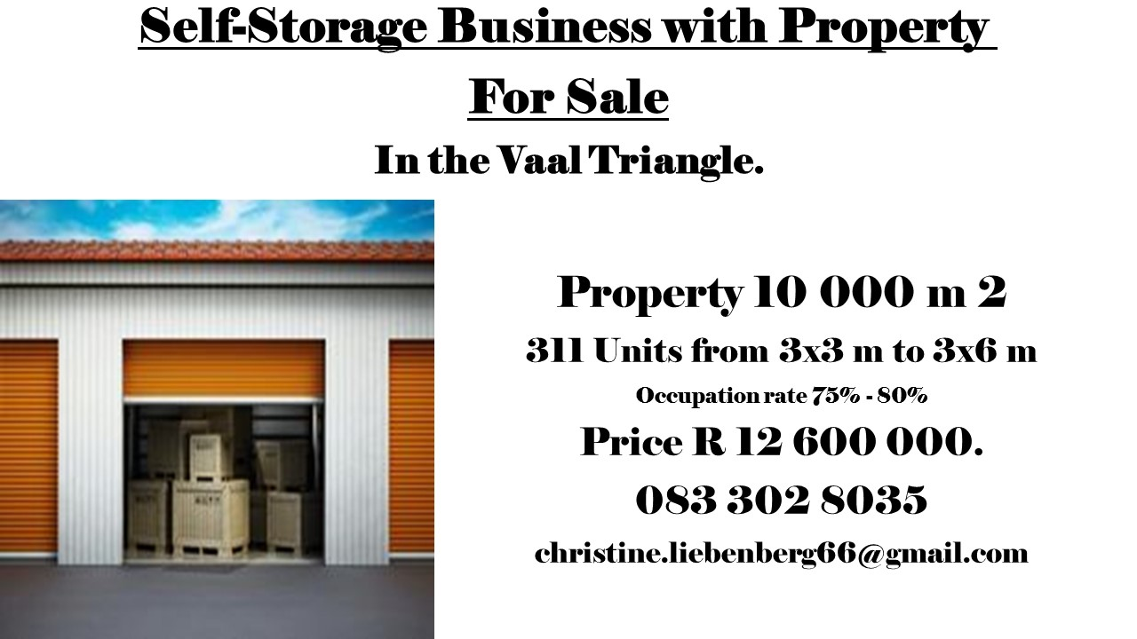 Storage Business with property for sale in Vaal Triangle