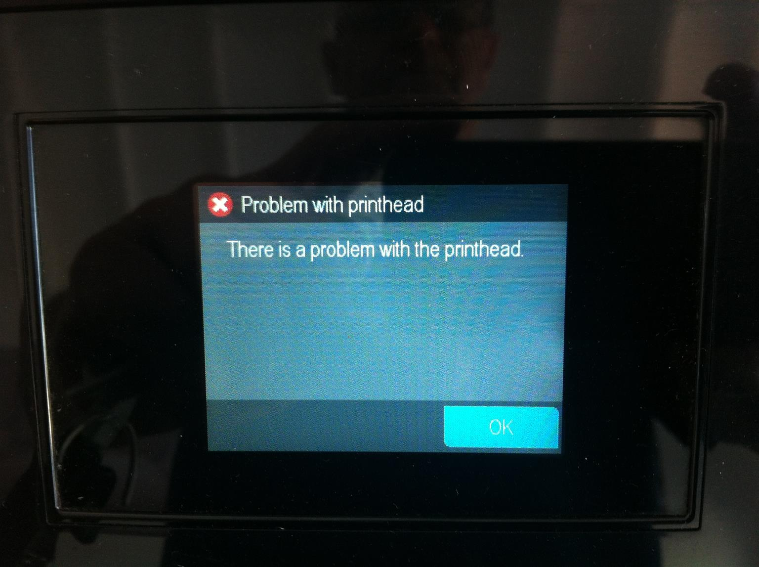 Hp Officejet 7510 Wideformat A3 printer printhead error