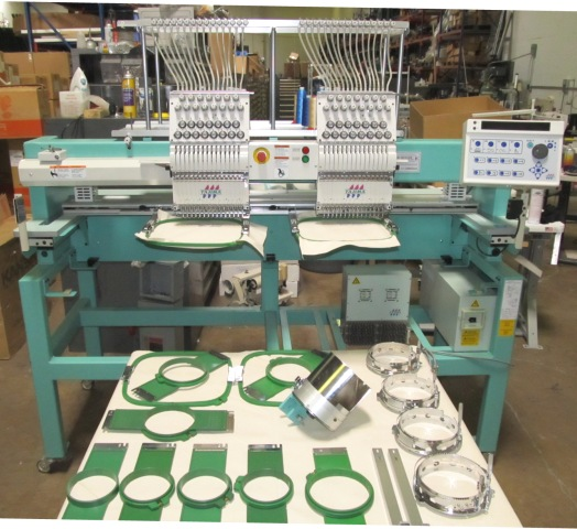 Automatic Embroidery Machine, 2-head, 15-needle, full-size table Multi Head