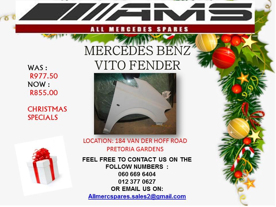 CHRISTMAS SPECIALS !!!! MERCEDES BENZ VITO FENDER FOR SALE