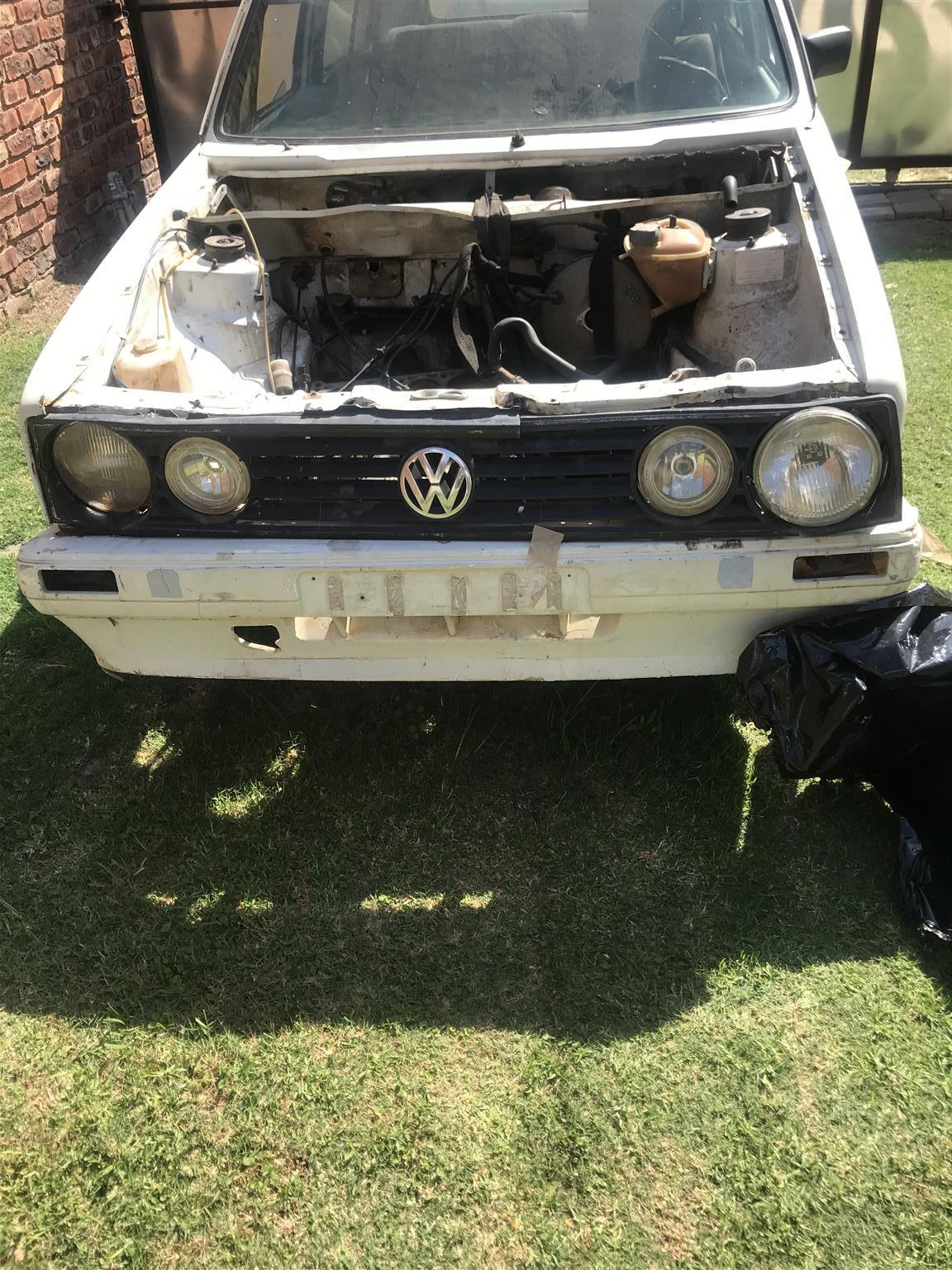 Hi am selling a non runner golf1 has a stripped engine and gearbox car has paper