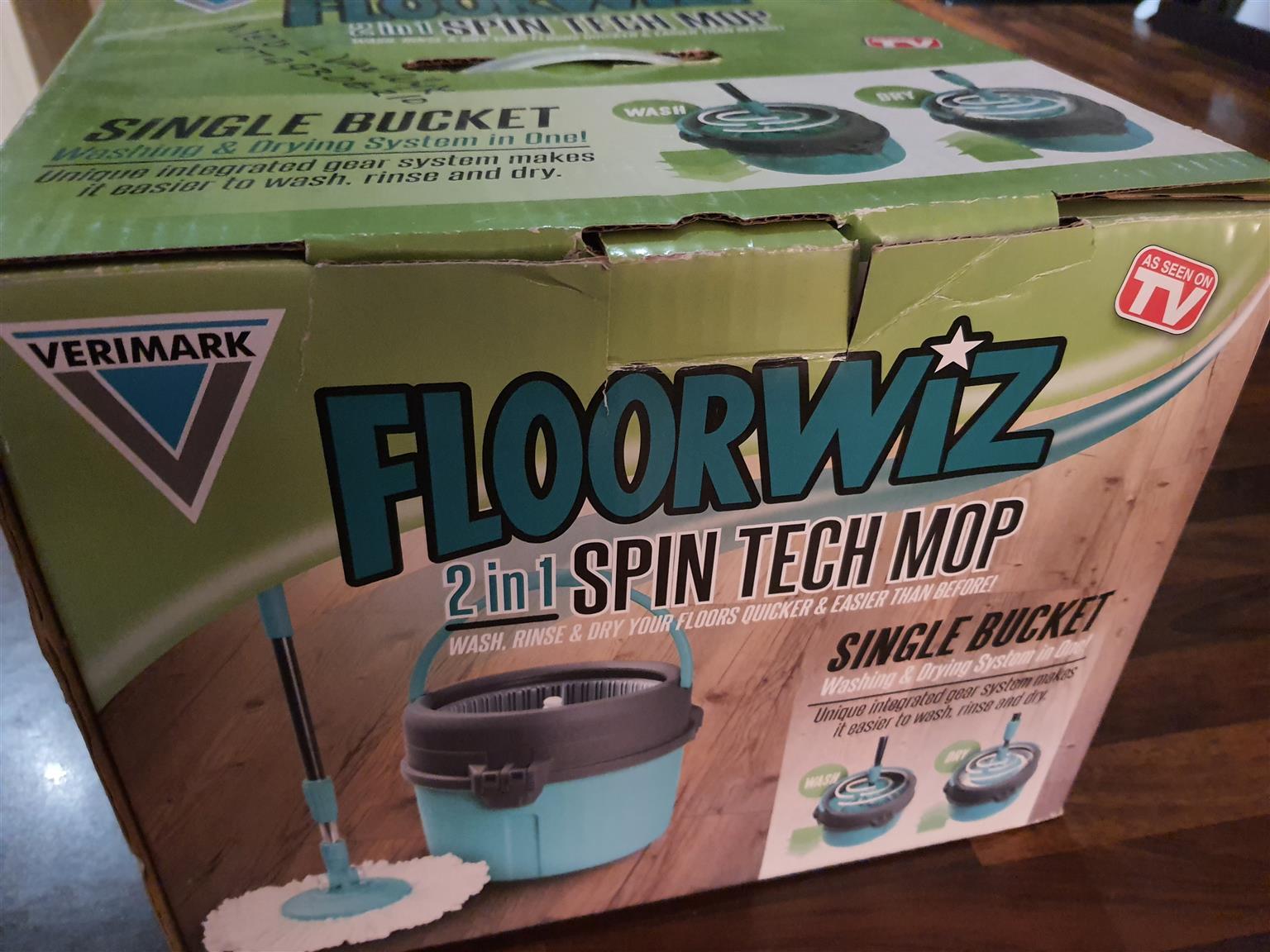 FLOORWIZ 2-IN-1 SPIN TECH MOP