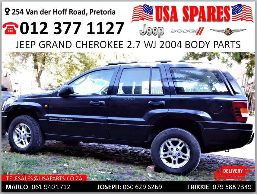 Jeep Grand Cherokee 2.7 WJ 2004 body spares for sale