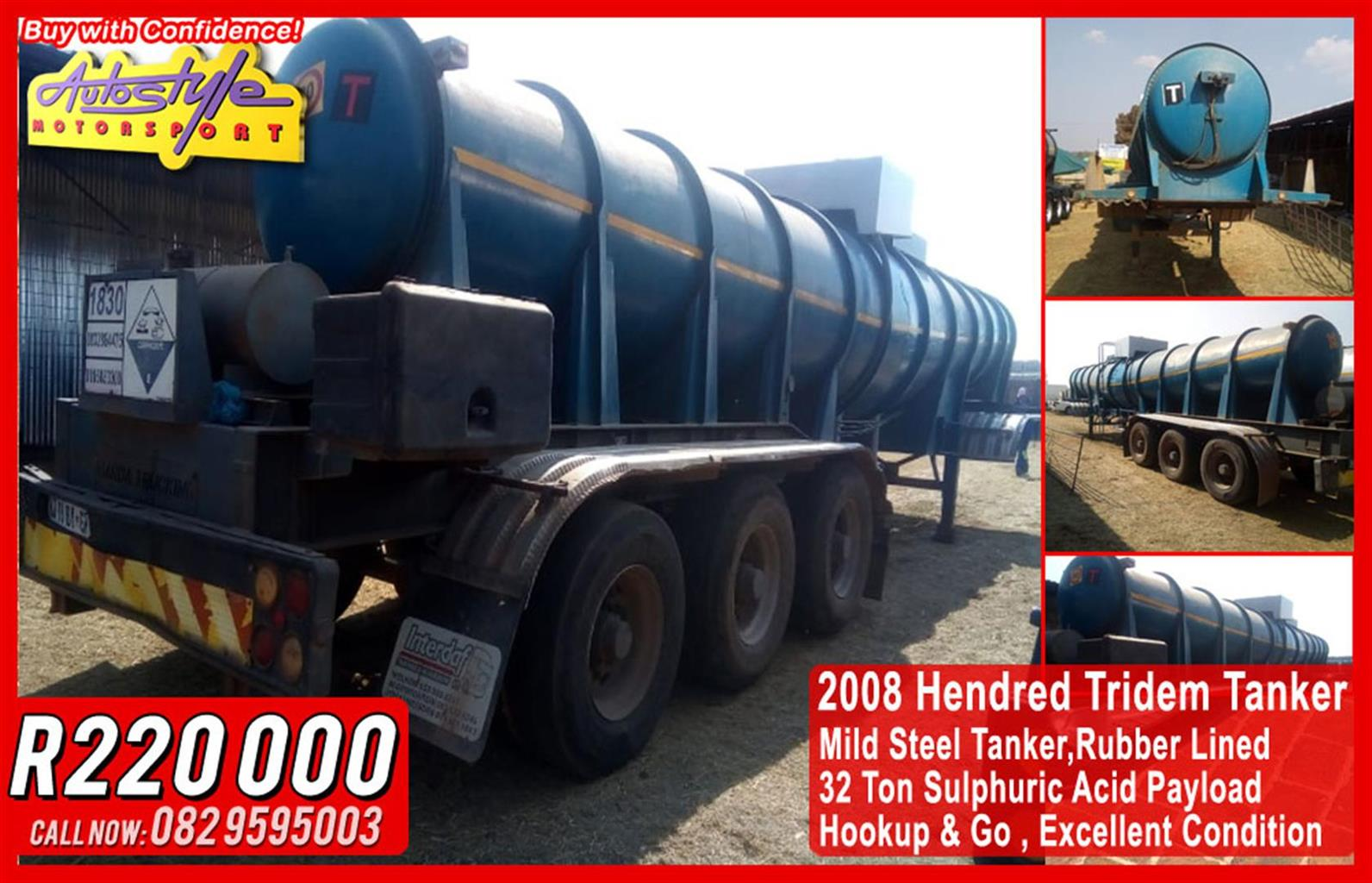 2008 Hendred Tridem Tanker Mild Steel Tanker