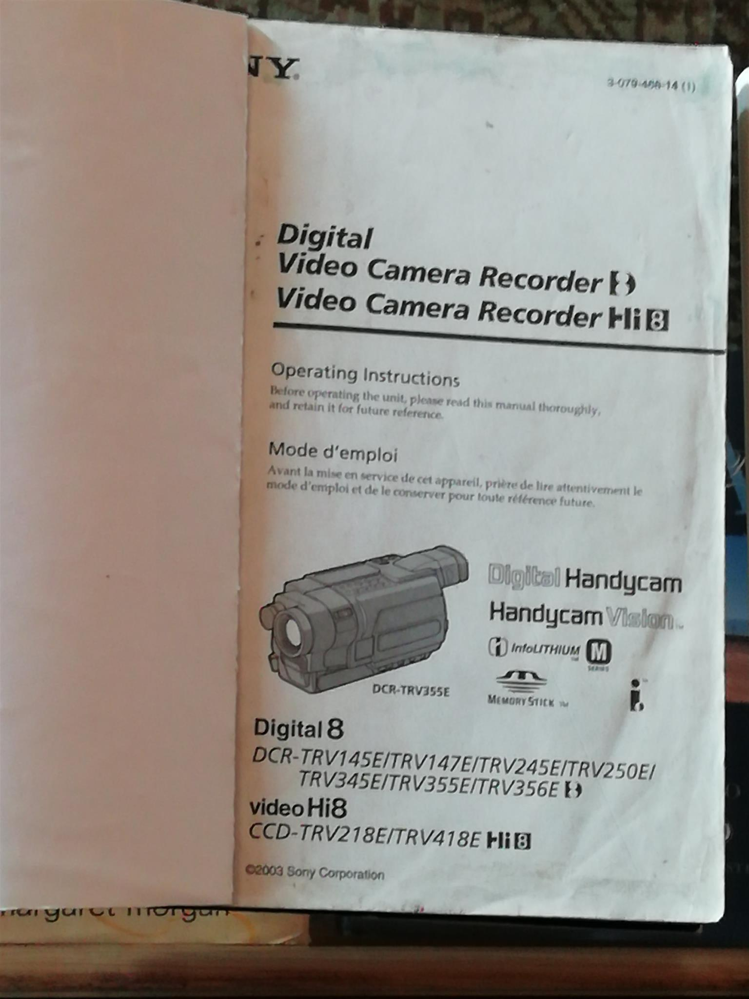 Items for Sony digital video camera recorder DCR-