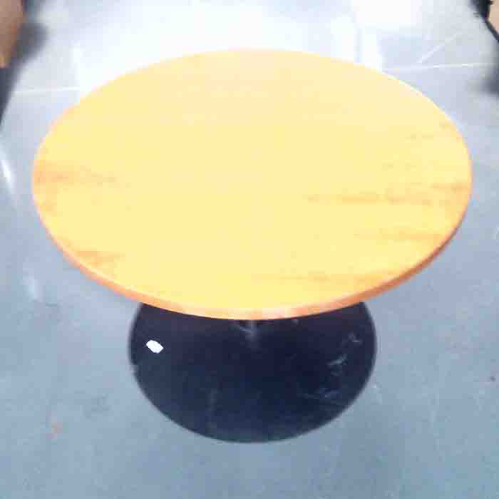 Round boardroom table cherry veneer