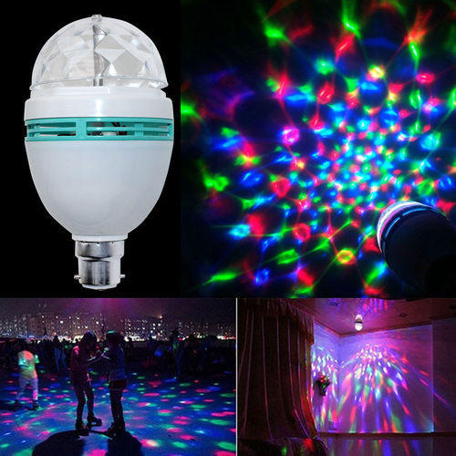 Led Colourful Rotating Party lamp