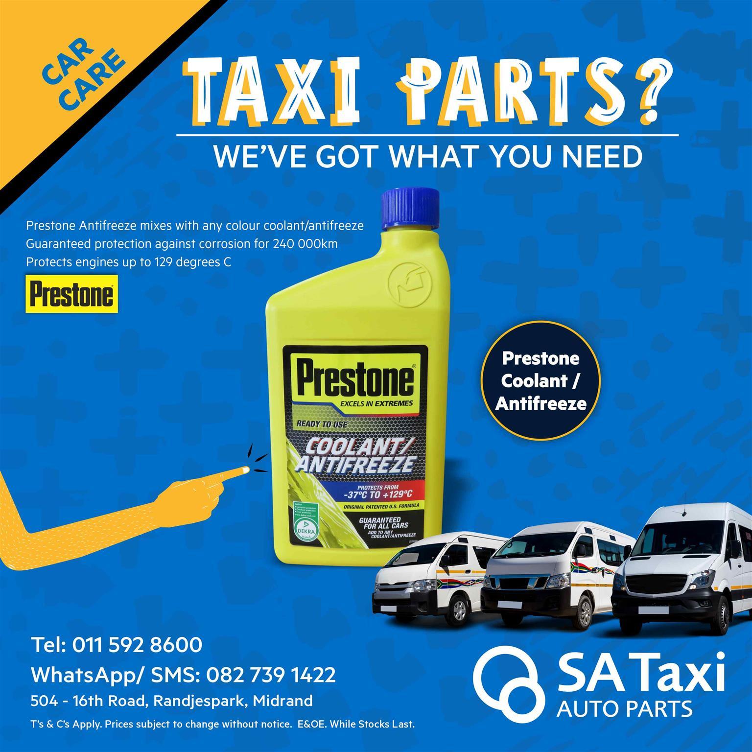 Buy your 1L Prestone Coolant / Antifreeze at SA Taxi Auto Parts
