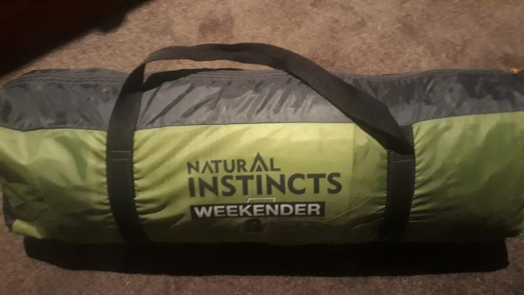 Natural Instincts Weekender 3.  3-man dome tent.  Brand new.  Never used.  See 9 photos.