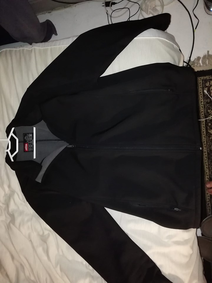 Black Jonssons polyester jacket
