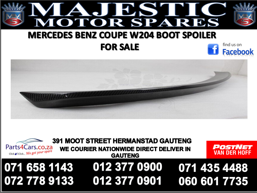Mercedes benz w204 boot spoiler for sale