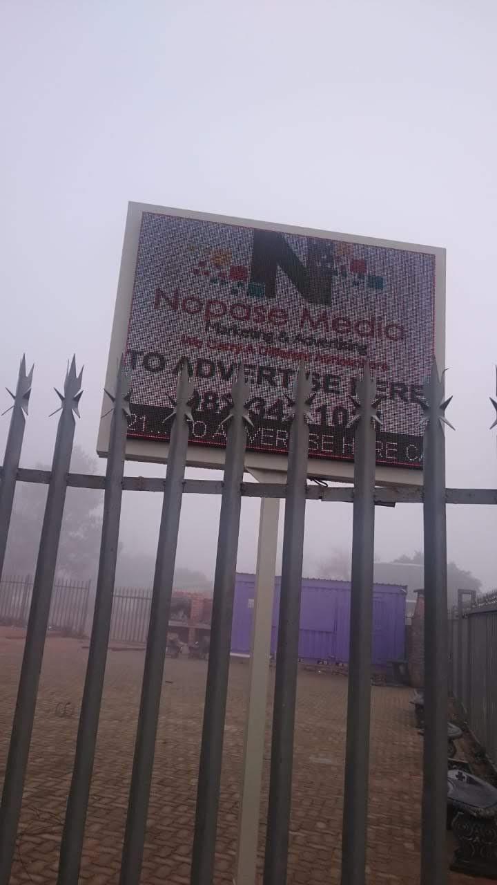 Digital advertising billboard outdoor