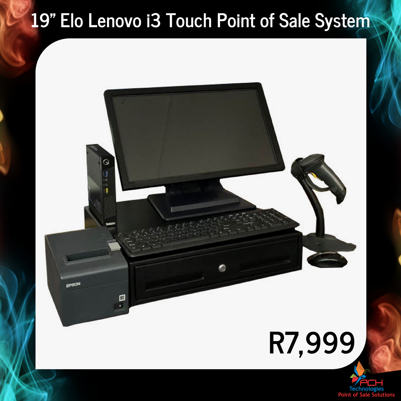 """19"""" Elo Lenovo i3 Touch Point of Sale System"""