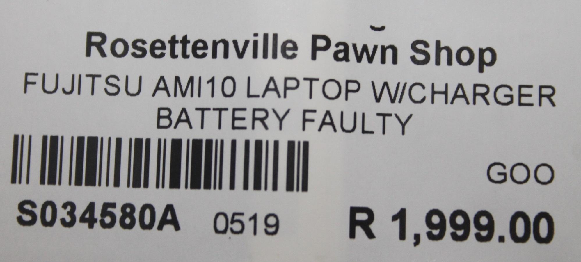 S034580A Fujitsu amilo laptop with charger #Rosettenvillepawnshop