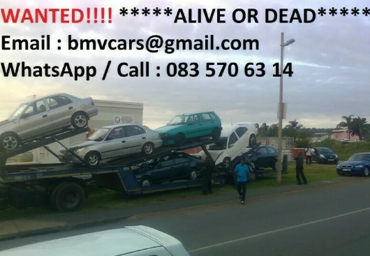 """We buy cars and bakkies """"alive and dead"""" countrywide"""