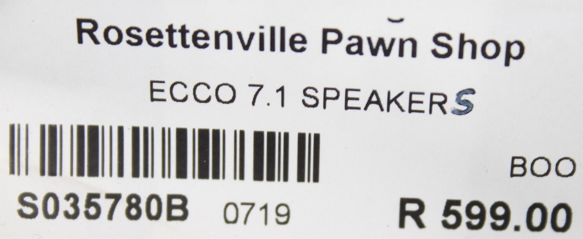 S035780B Ecco 7.1 speakers #Rosettenvillepawnshop