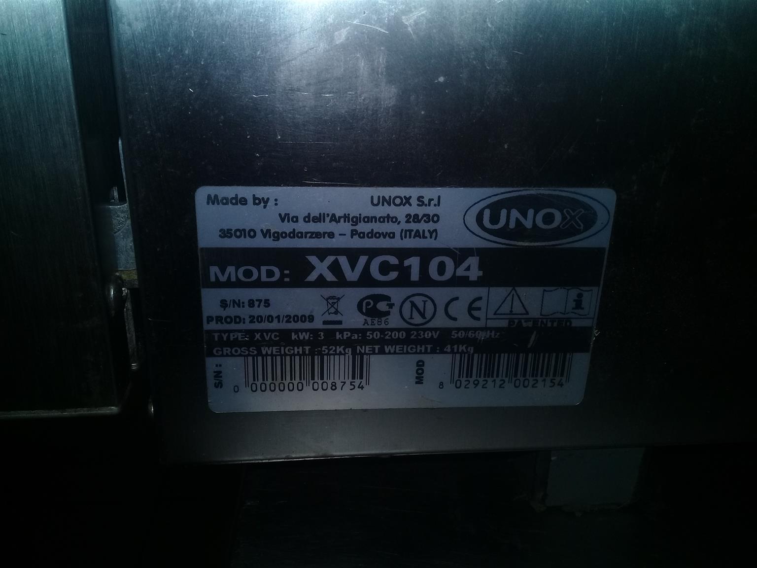Unox cheftop oven