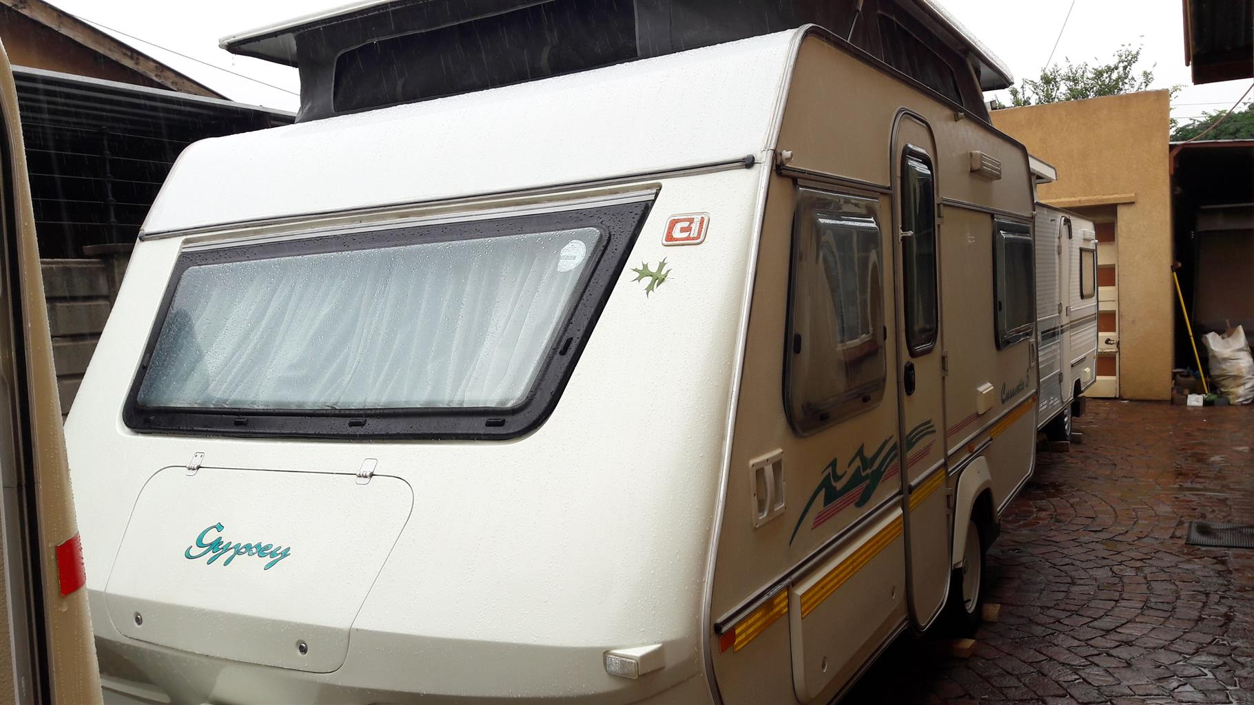GYPSEY CARAVETTE 5 1995 MODEL WITH FULL TENT AND RALLY TENT CONTACT 0835818449 I