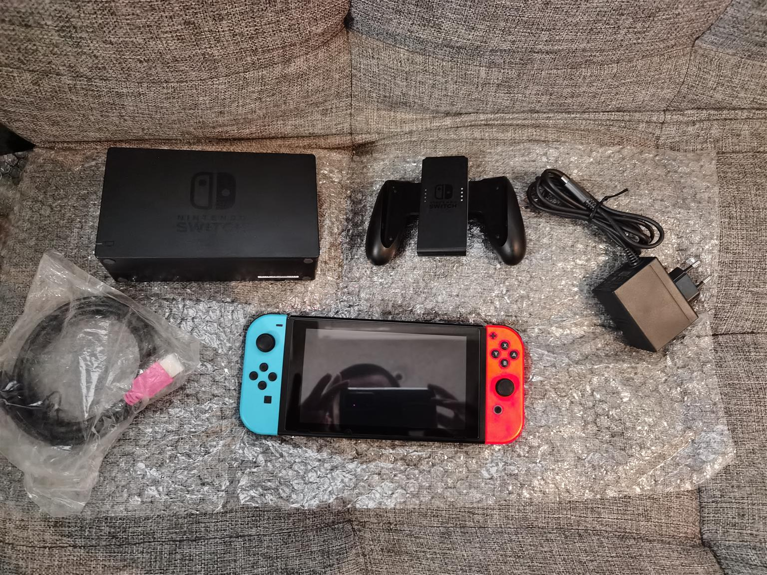 Nintendo switch still brand new Neon And Red used a few times console