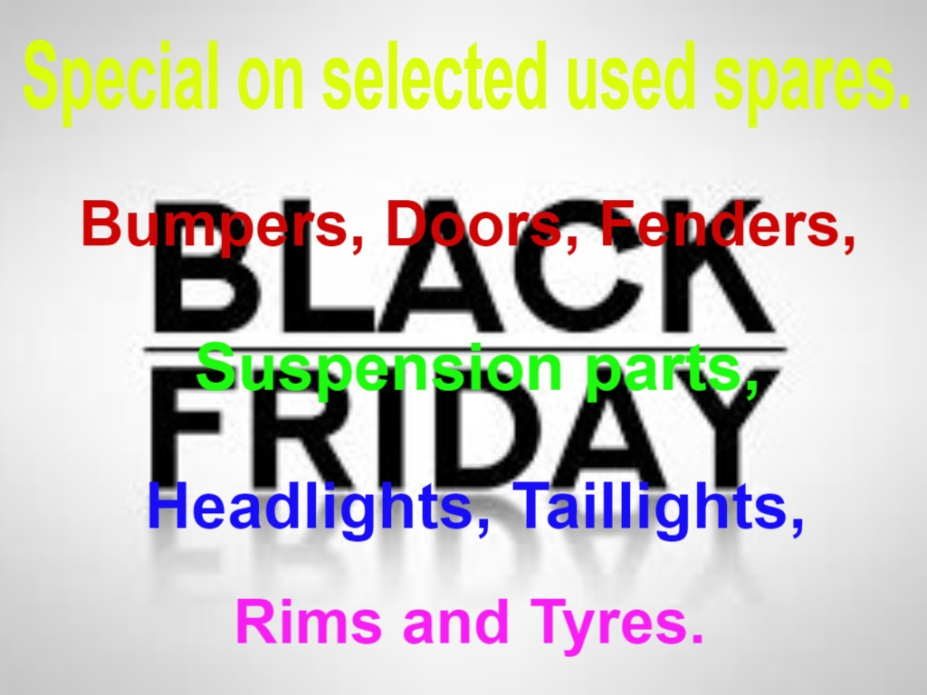 Black Friday specials on selected used spares
