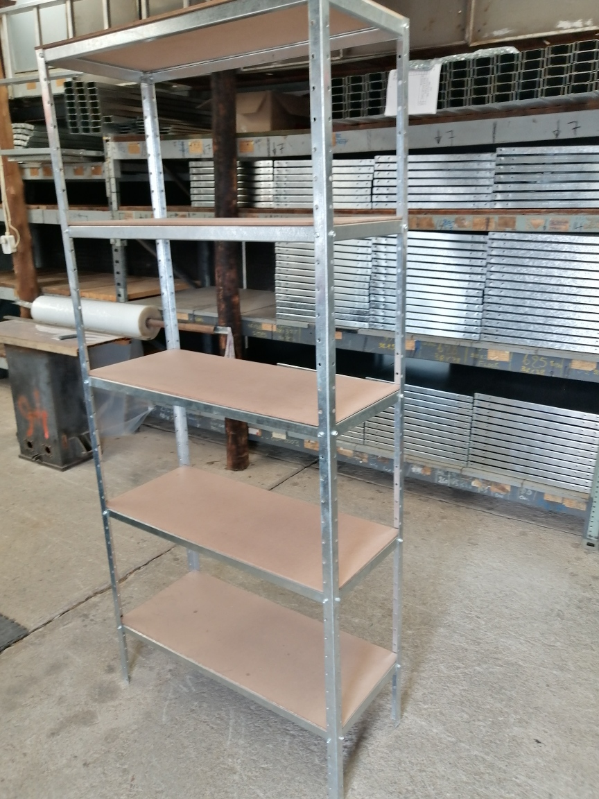 New bolt and nut  galvanised shelf with MDF top