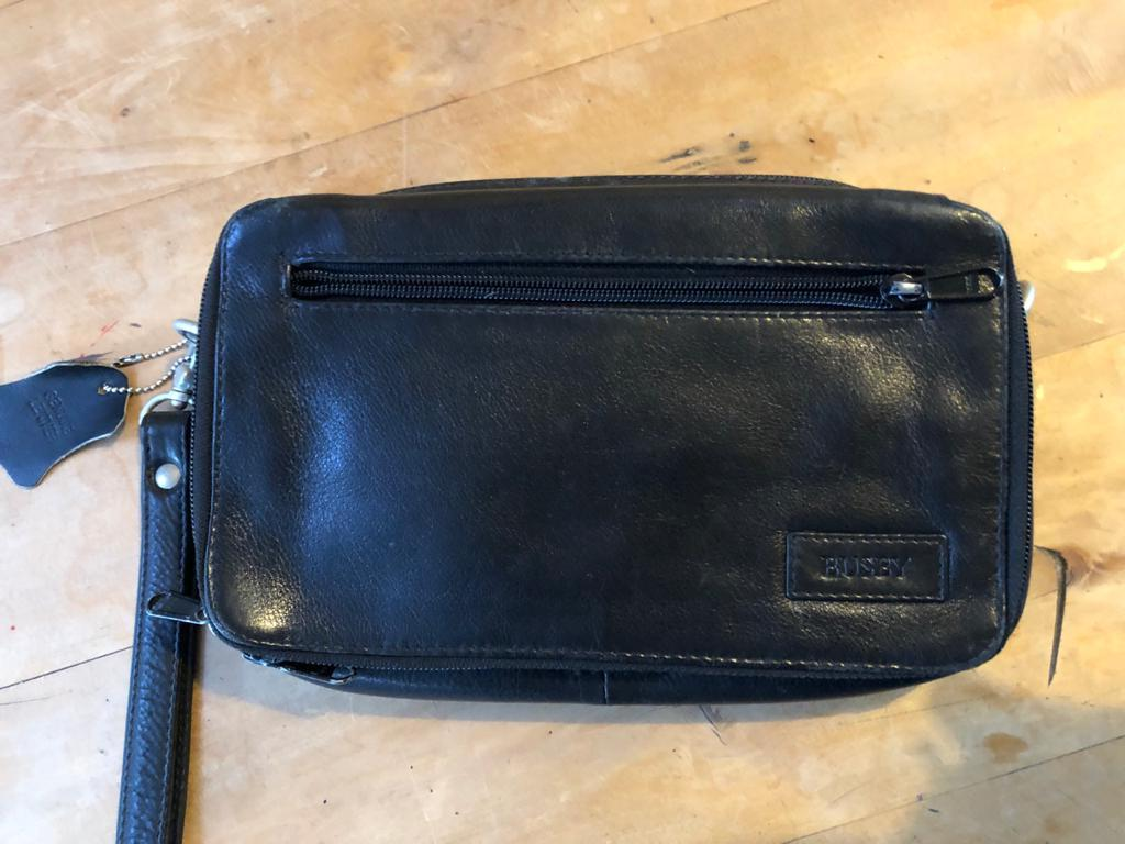 Busby Genuine Leather Large Clutch Bag - great Fathers Day gift idea!